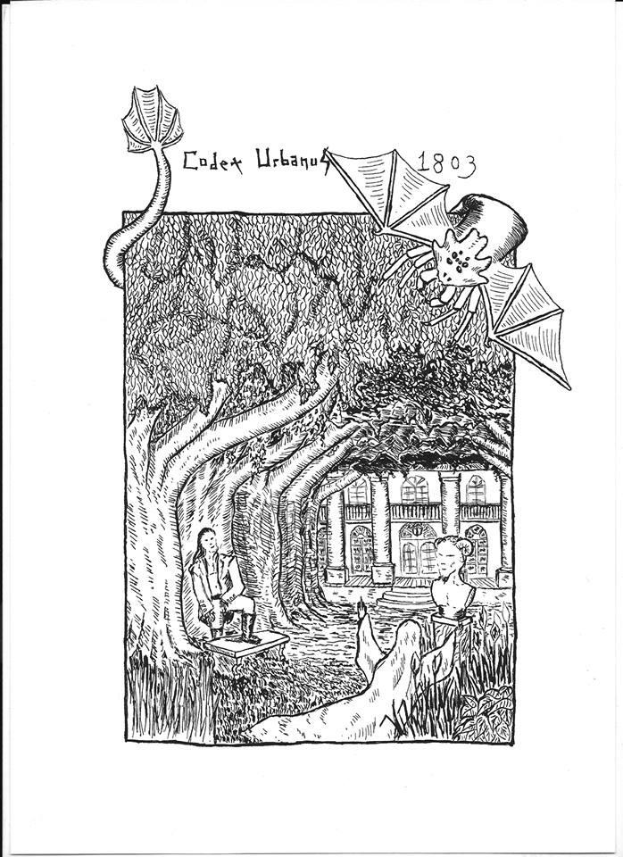 """Plantation, Dessin pour """"Vampires et Bayou"""" (Morgane Caussarieu)"""