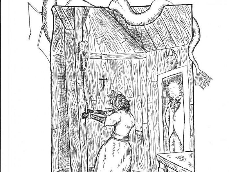 Slave, Dessin pour «Vampires et Bayou» (Morgane Caussarieu)