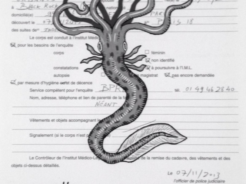 Hydra Mortis, Ordre pour la Réception d'un Cadavre